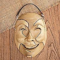 Wood mask, 'Sweet Smile'