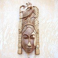 Wood mask, 'Dewi Saraswati'