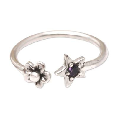 Amethyst and Sterling Silver Wrap Ring
