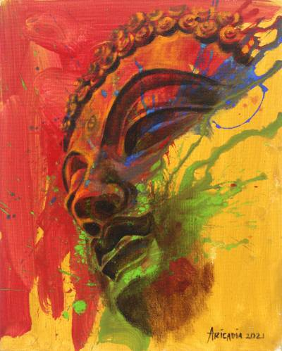 Buddha-Themed Acrylic and Oil Painting on Canvas