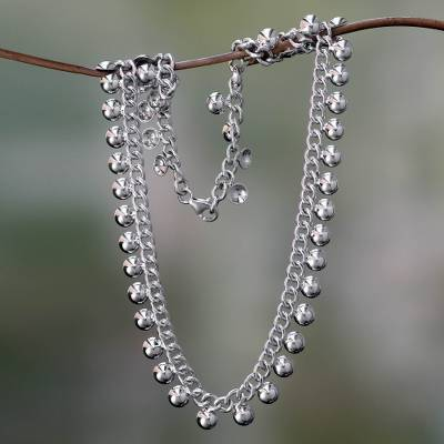 Sterling silver chain necklace, 'Island Dew' - Sterling Silver Chain Necklace