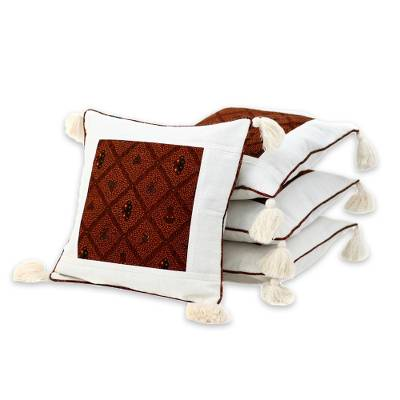 Cotton Patterned Cushion Covers (Set of 4)