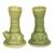 Ceramic candleholders, 'Yoke Frog' (pair) - Green Ceramic Animal Themed Candle Holders (Pair) (image 2b) thumbail