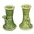 Ceramic candleholder, 'Mandrill' (pair) - Green Ceramic Monkey Candle Holders (Pair) thumbail