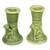 Ceramic candleholder, 'Mandrill' (pair) - Green Ceramic Monkey Candle Holders (Pair) (image 2b) thumbail