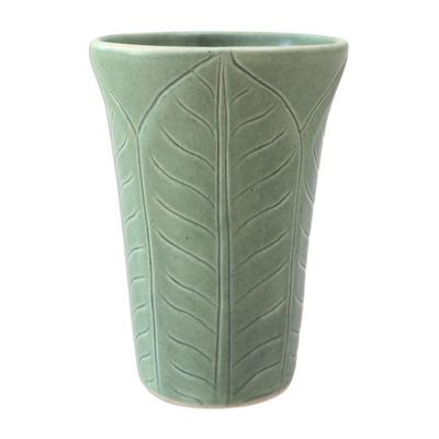 Handcrafted Green Ceramic Vase