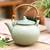 Ceramic teapot, 'Frog Song' - Hand Crafted Ceramic Teapot (image 2) thumbail