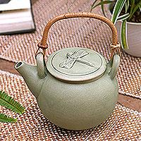 Ceramic teapot, 'Landing'