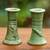 Ceramic candleholders, 'Hide and Seek' (pair) - Ceramic candleholders (Pair) (image 2) thumbail