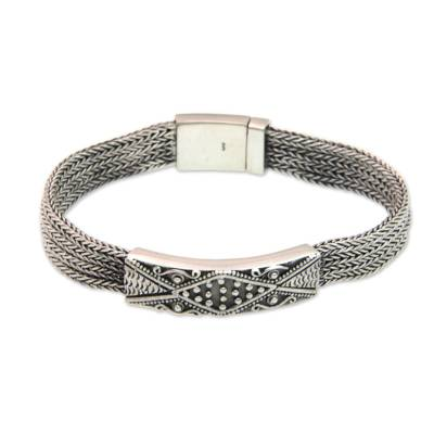 Handmade Sterling Silver Wristband Bracelet
