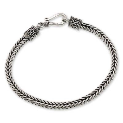 Artisanmade Sterling Silver Chain Bracelet