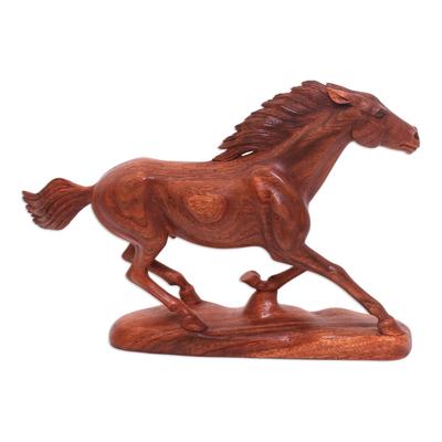 Wood Horse Statuette