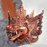 'Naga Basukih,' mask - Handmade Cultural Wood Mask