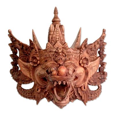 Balinese Handmade Cultural Protective Dragon Wood Mask