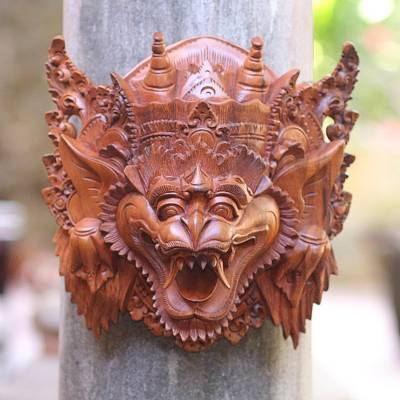 'Monkey II,' mask - Indonesian Cultural Wood Mask