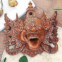 Wood mask, 'Epic Monkey King' - Wood mask