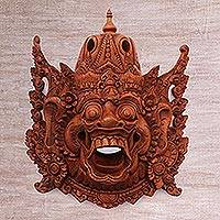 Wood mask, 'Evil Kumbakarna' - Wood mask