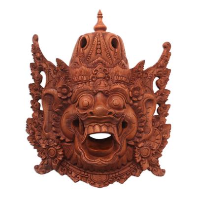 Wood mask, 'Evil Kumbakarna' - Wood mask