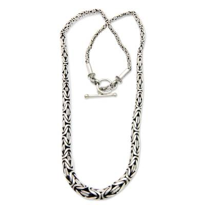 Indonesian Sterling Silver Chain Necklace