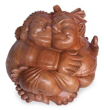 Wood statuette, 'Bliss' - Wood statuette