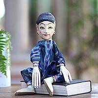 Wood display doll, 'Miss Bali' - Wood display doll