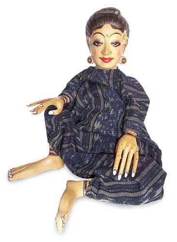 Wood display doll, 'Miss Bali' - Wood display doll