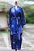 Rayon batik robe, 'Through the Seas' - Indonesian Batik Patterned Robe (image 2b) thumbail