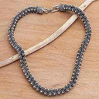 Sterling silver chain necklace, 'Starfish'