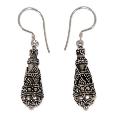 Sterling silver dangle earrings, 'Traditions' - Sterling Silver Dangle Earrings