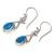 Turquoise dangle earrings, 'Temptations' - Sterling Silver Turquoise Dangle Earrings (image 2e) thumbail