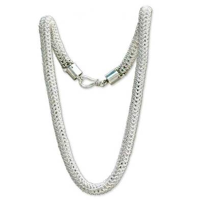 Sterling Silver Chain Necklace from Indonesia
