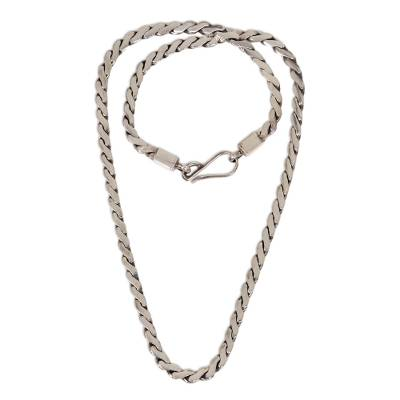 Silver Chain Necklace from Indonesia