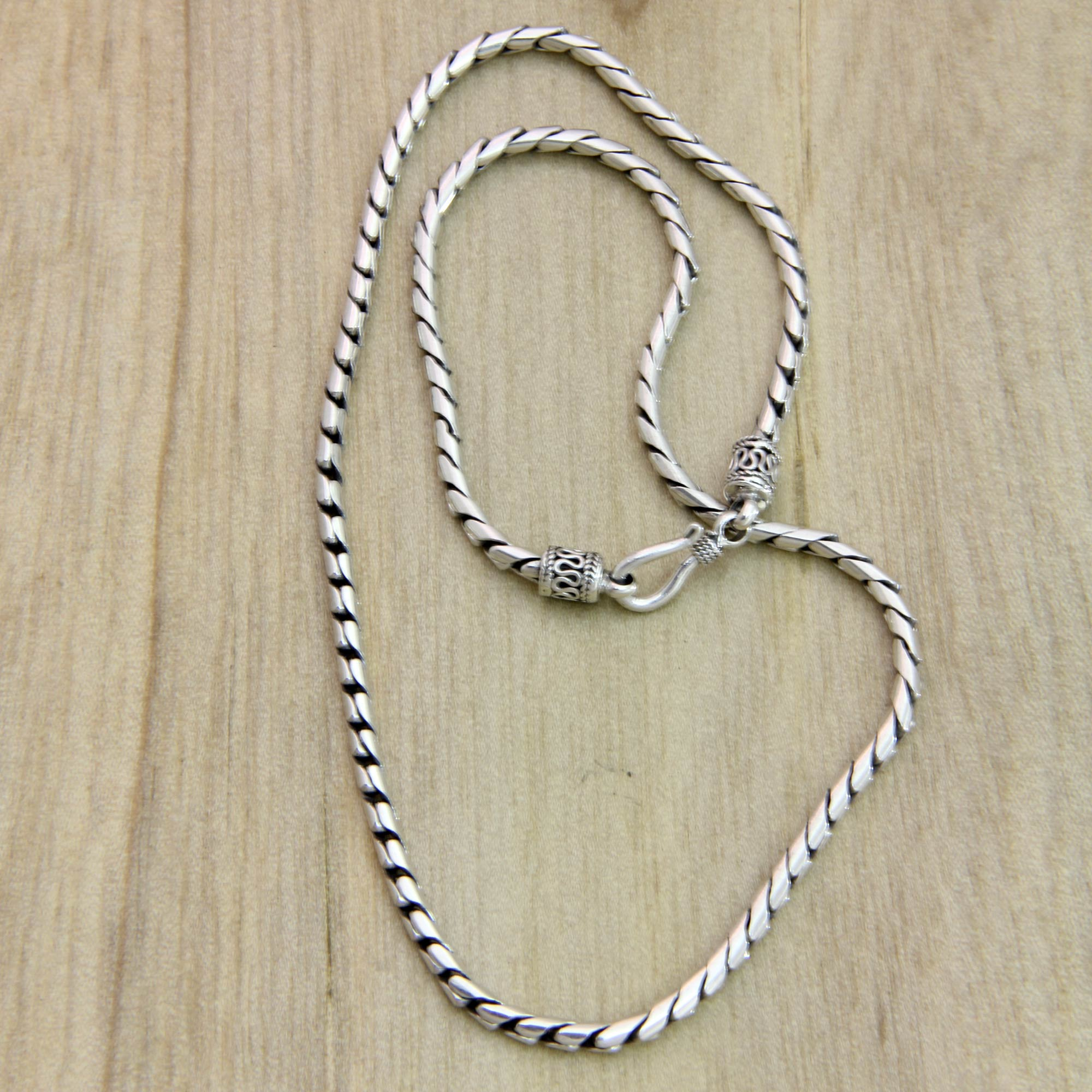 Sterling Silver Chain Necklace - Silver Sleek | NOVICA