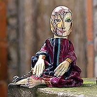 Wood display doll, 'Legend' - Hand Painted Display Doll