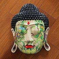Wood mask, 'Delighted Buddha'