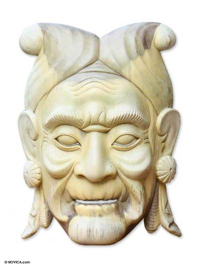 Wood mask, 'Princess' - Wood mask
