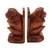 Wood bookends, 'Speak No Evil Monkey' (pair) - Hand Carved Wood Monkey Bookends (Pair) (image 2c) thumbail