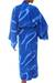 Women's batik robe, 'Sea of Sapphire' - Women's Batik Patterned Robe (image 2b) thumbail