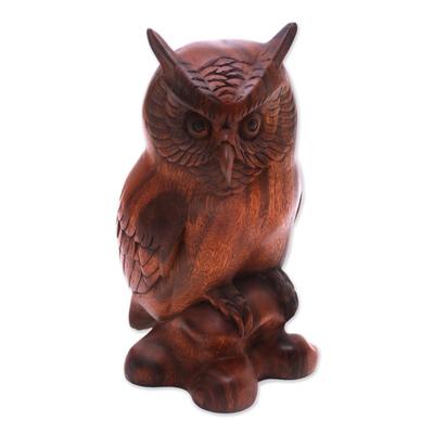 Fair Trade Wood Bird Sculpture