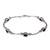 Onyx link bracelet, 'Black Rice Seeds' - Sterling Silver Onyx Bracelet from Indonesia (image 2a) thumbail