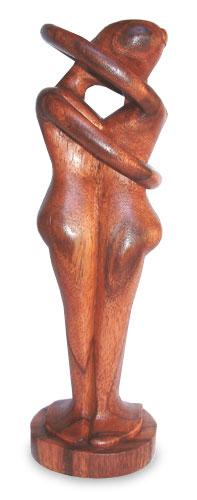 Hand Made Romantic Wood Sculpture