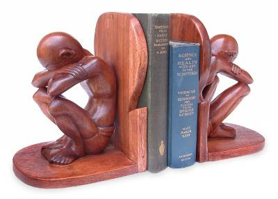 Wood bookends (Pair)