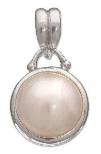 Artisan Crafted Sterling Silver and Pearl Pendant