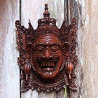 Wood mask, 'Rahwana, the Demon King' - Cultural Wood Mask