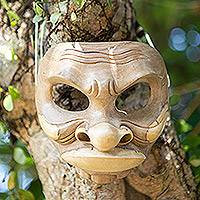Wood mask, 'Classic Comic' - Wood mask