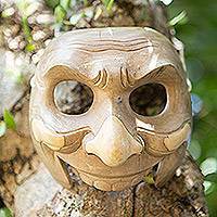 Wood mask, 'Classic Clown' - Wood mask
