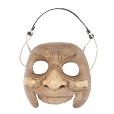 Wood mask, 'Classic Clown' - Wood mask