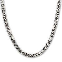 Sterling silver chain necklace, 'Dragon Spine' - Sterling Silver Chain Necklace