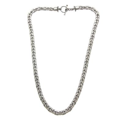 Men's sterling silver chain necklace, 'Ocean Current' - Men's 19.75-inch Sterling Silver Chain Necklace from Bali