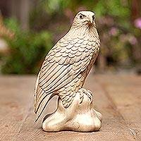Wood sculpture, 'Eagle Pride' - Wood sculpture